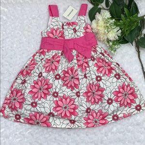 Savannah Pink, White & Black Floral Dress